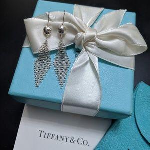 Authentic Tiffany & Co. Mini Mesh Earrings